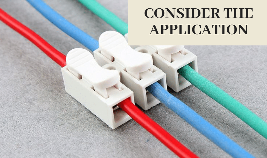 Wire connector application
