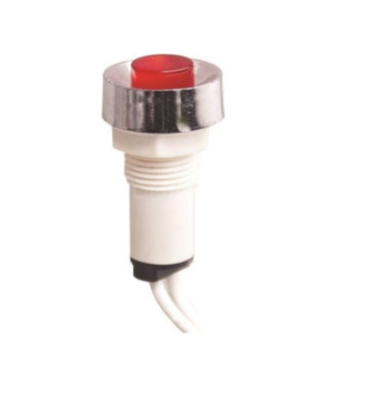 10 mm LED Indicator Light with Metal Ring